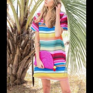 Judith March Cuban Stripe Dress Spring S Festival